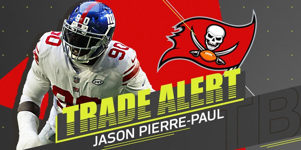 ���� TRADE ALERT! ����  @Giants trading Jason Pierre-Paul to the @Buccaneers: https://t.co/Bg7i0wbQuA (via @RapSheet) https://t.co/O5XGXZjLQf