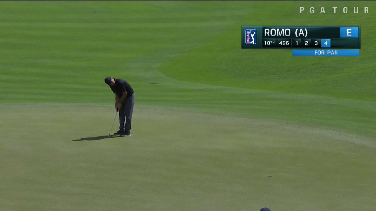 .@TonyRomo is walking in putts! He's even par through 10 holes. #QuickHits