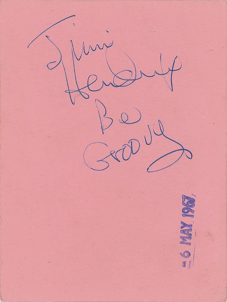 """Rr Autograph Auctions Consignment Agreement: RR Auction On Twitter: """"RR Auction And Jimi Hendrix"""