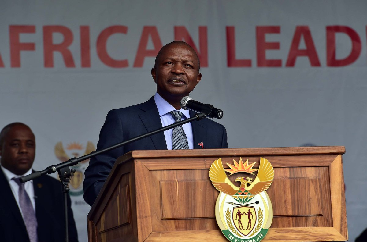 Deputy President David Mabuza, who is the Chair of the South African National AIDS Council (SANAC) during the World TB Day Commemoration held in Durban, Kwa-Zulu Natal.