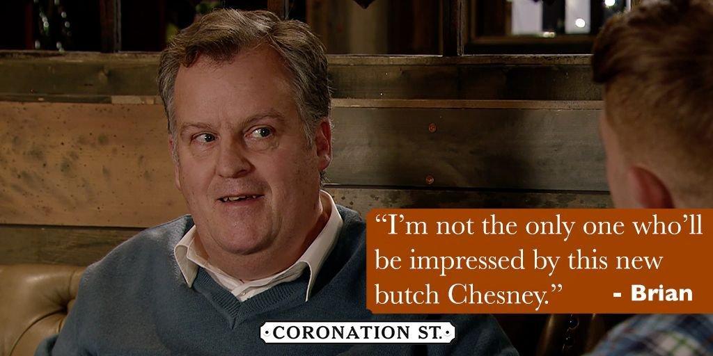 Well we're impressed Chesney! 😎😘  #Swoon #EveryoneLovesABadBoy #BadBoyBrian #Corrie