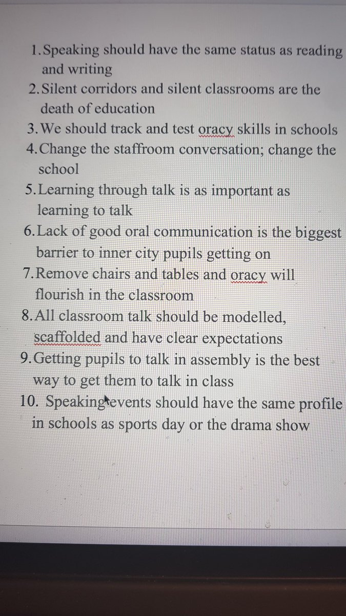 Talking points from the Great Oracy Exhibition today