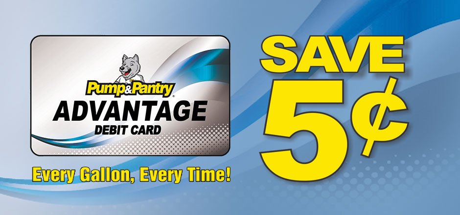 pump pantry on twitter everyone loves to save on fuel with the pump pantry advantage card you save 5 on every gallon every time - Loves Fuel Card