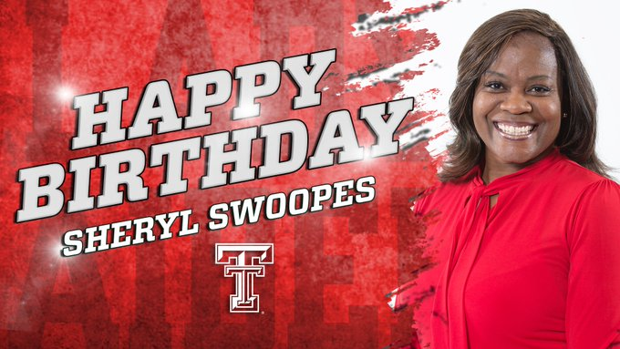 We want to wish a very happy birthday to Lady Raider great Sheryl Swoopes!