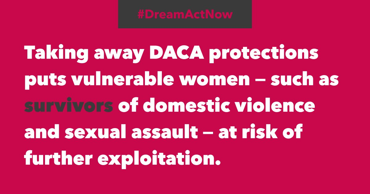 All the more reason we need a #DreamActNow. Call to support undocumented immigrant women and families: 608-433-0522