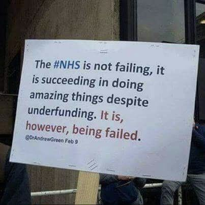 The NHS is not failing but it is being f...