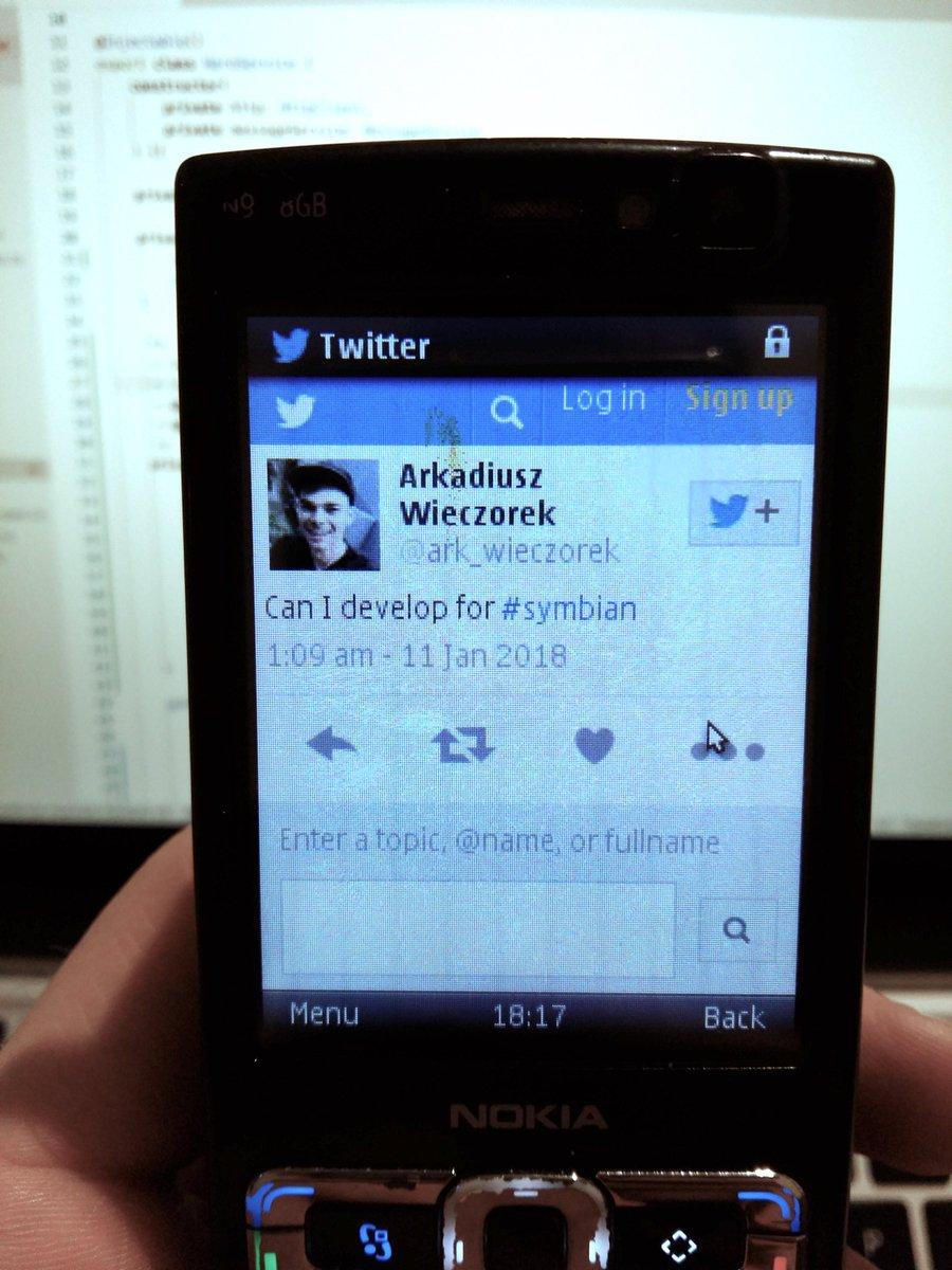 symbian hashtag on Twitter