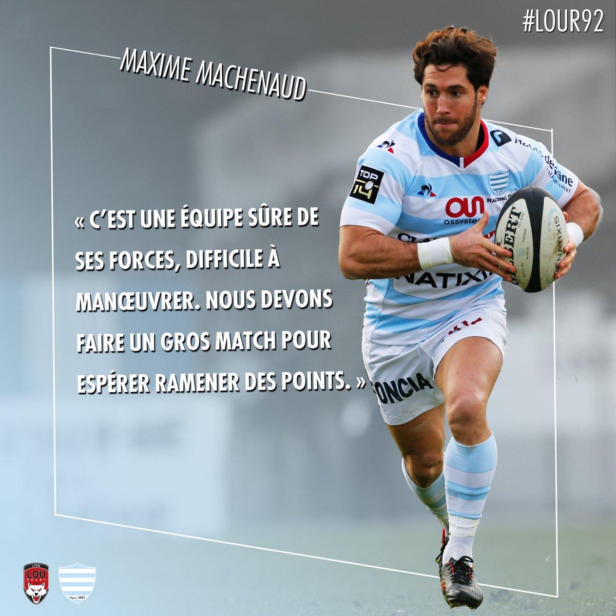 """""""@LeLOURugby est une équipe sûre de ses forces""""   Découvrez les déclas  de la conférence de presse de Maxime Machenaud, Antonie Claassen et Laurent Travers avant le match face au LOU !   #LOUR92 #Raci"""