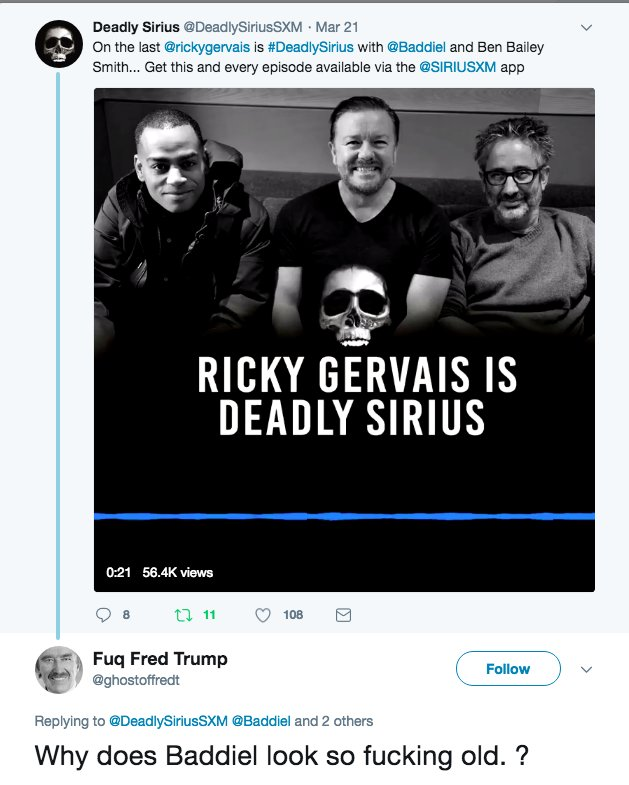 Because I am that fucking old. I'm actually older than the bloke above the word Gervais. https://t.co/1ZuWozs0ab
