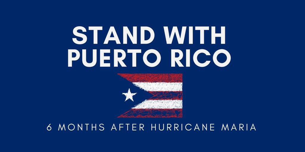 Today is #WorldWaterDay. I'm thinking of all the people around the world who lack water, which many of us take for granted. I'm thinking of tens of thousands of Americans, in Puerto Rico, who more than #6MonthsAfterMaria, still lack running water. Shameful moment for America.🇵🇷