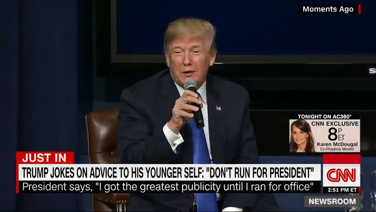 What advice would you give to 25-year-old Donald Trump?  Trump: 'Don't run for president' https://t.co/eGA7xexjHk https://t.co/86V38fyIiu