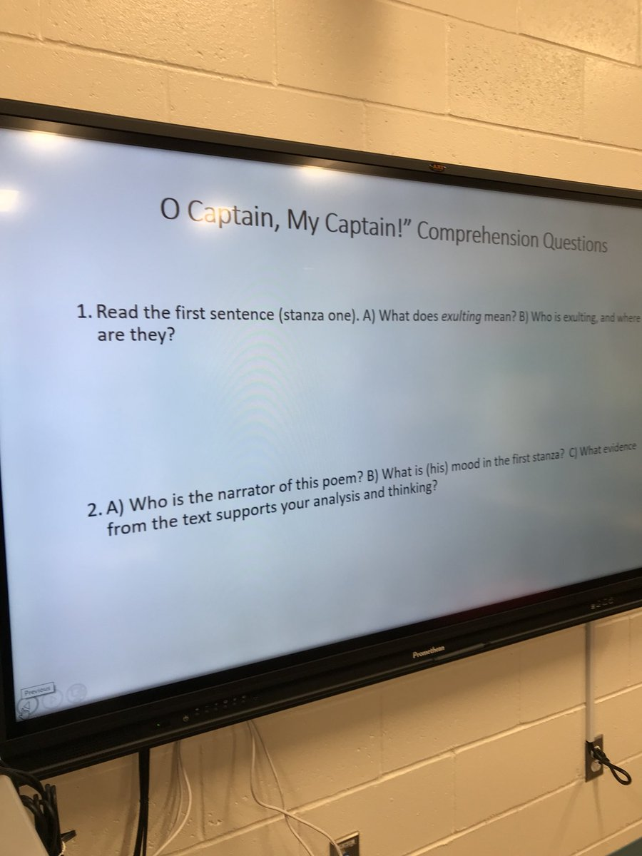 o captain my captain analysis questions