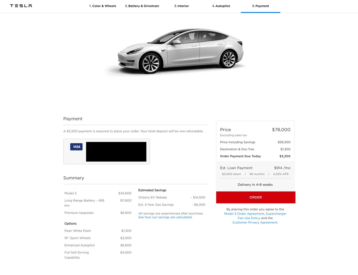 "Tesla Owners Online on Twitter: ""Canadian Model 3 ..."