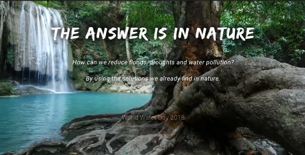 Damaged ecosystems affect the quantity &amp; quality of #water available for human consumption.   2.1B people live without safe drinking water at home; affecting their #health, education &amp; livelihoods.  The answer is in nature. Learn about #WorldWaterDay.   http:// worldwaterday.org  &nbsp;  <br>http://pic.twitter.com/MUp9p1Mx3f