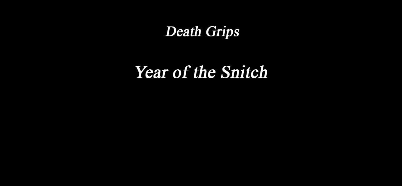 Death Grips is about to usher us into the Year of the Snitch. https://t.co/5unaYTMNPM https://t.co/mrSgQrbz4T