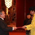 Image for the Tweet beginning: Embajador del Perú presentó Cartas