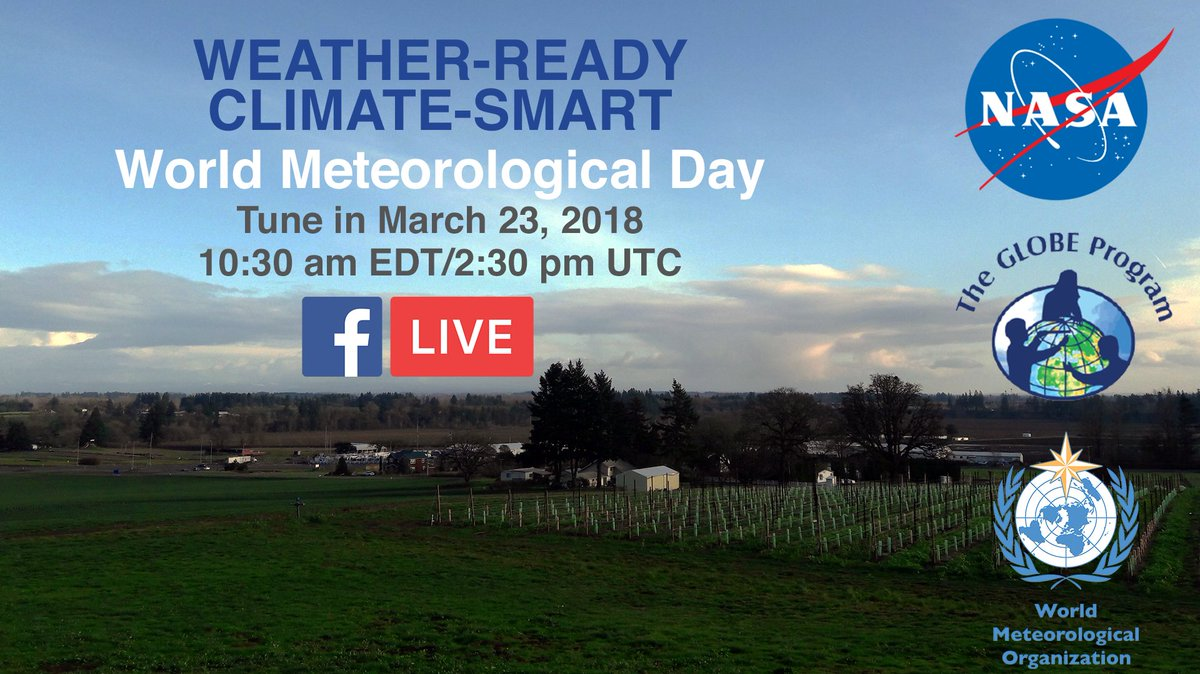 Head on over to our Facebook page for a live broadcast on #clouds, weather & ! St#citizensciencearts in 5 min:  https://t.co/FJIkiNzWVA#WorldMetDay