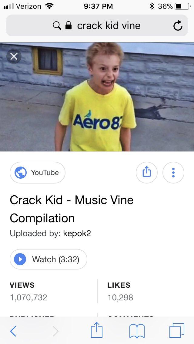 crack kid vine 10 hours