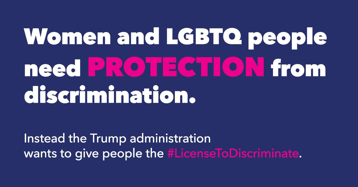 Health care providers should not be able to discriminate based on religious or moral reasons — or any reason at all.   Tell @HHSGov to #PutPatientsFirst and reject discrimination in health care: https://t.co/r9Bj2blMCY