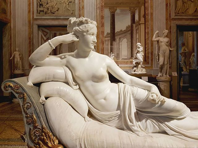 #AntonioCanova #PaolinaBorghese as #VenusVictrix #marble #sculpture @galleriaborgheseufficiale #Rome #NeoClassicism https://t.co/LImw9yBTl3