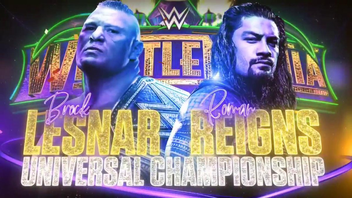 wrestlemania 34 - DY7HzlSWkAARrcz - Wrestlemania 34 Poster, Matches, Predictions, location, Date, Time