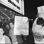 Image for the Tweet beginning: This week in 1979, protesters