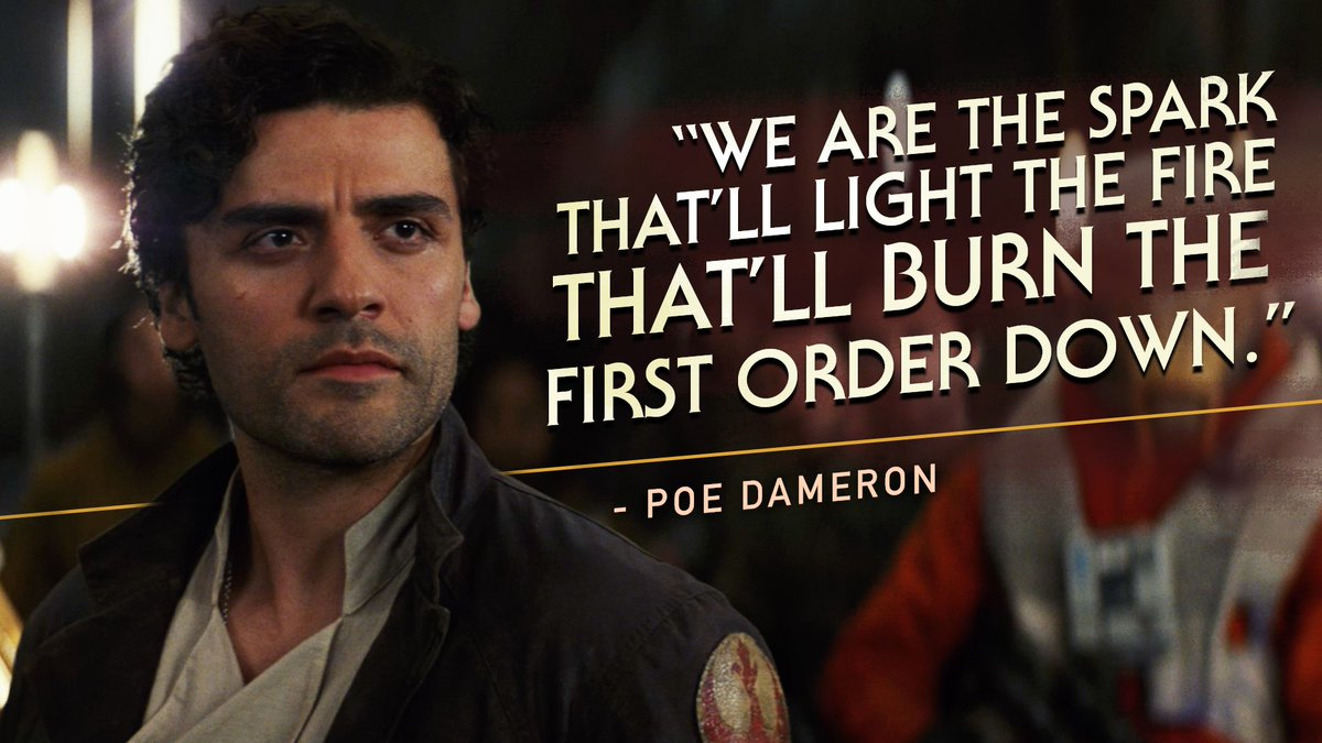 The spark of rebellion is reignited. #TheLast Jedi