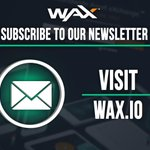 Image for the Tweet beginning: New to $WAX? Stay up-to-date