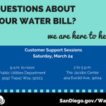 Image for the Tweet beginning: Questions about your water bill?