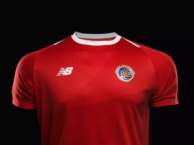 Novo uniforme da Costa Rica para a Copa...