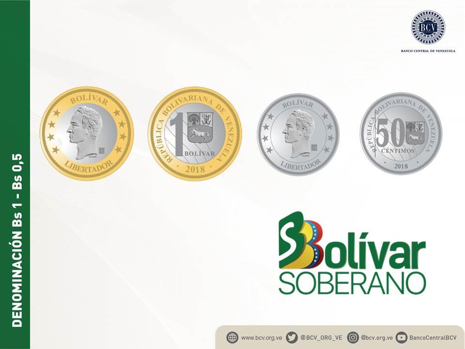 Nuevas monedas de Bs. S 0.5 y 1   Vigent...