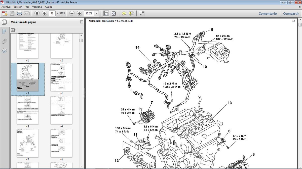 Mitsubishi 6b31 Engine Diagram Worksheet And Wiring 2001 Montero Rodolfo D On Twitter Outlander Con Motor Gasolina Rh Com 3d Galant