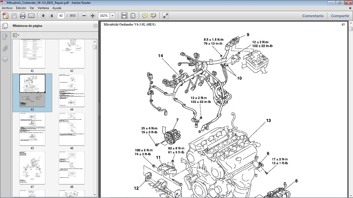 mitsubishi outlander 3 0 engine diagram wiring diagram center  mitsubishi outlander 3 0 engine diagram #4