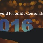 My word for 2016: Consolidation https://...