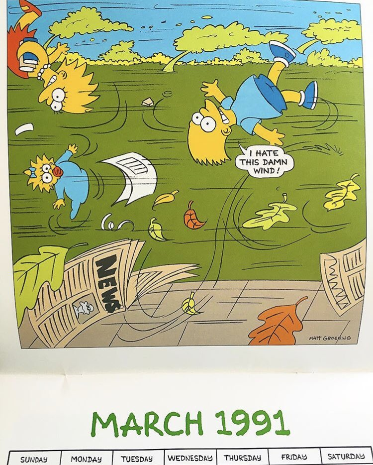 Simpsons Treasure Trove On Twitter March 1991 Love The Artwork