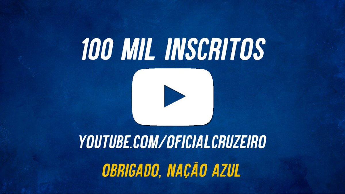 Muito obrigado, Nação Azul. 100 mil inscritos no https://t.co/fq4UKEYSi1