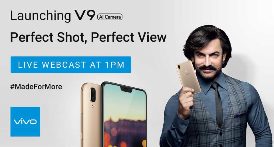 Today Aamir Khan Will Launch Vivo V9 Smartphone at Mumbai