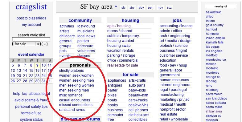 Cnet On Twitter Craigslist Is Axing Personal Ads After A Sex