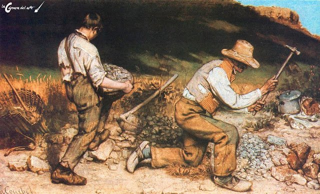 🖼️Los picapedreros 👨‍🎨Gustave Courbet 🗓️...