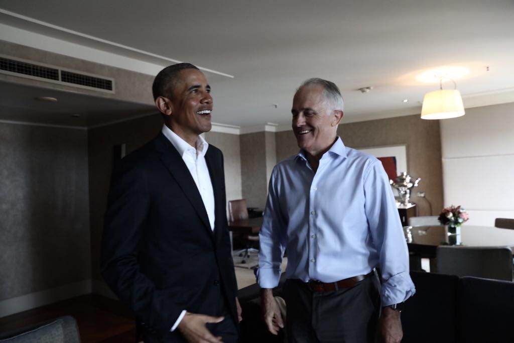 Welcome back to Australia President @Bar...