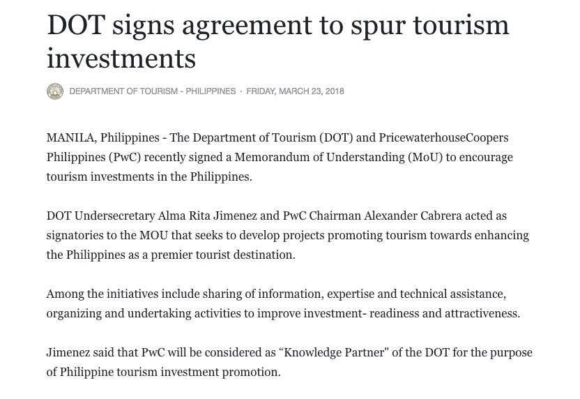 Visit Philippines Media Release Dot Signs Agreement To