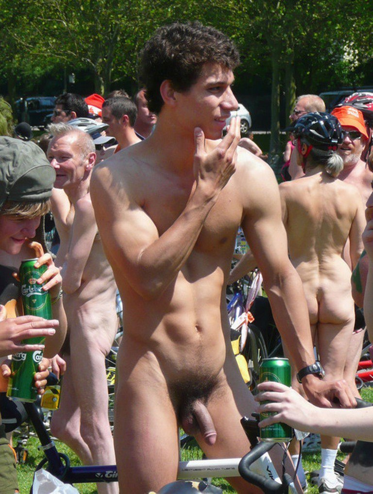 Gay public nudity street