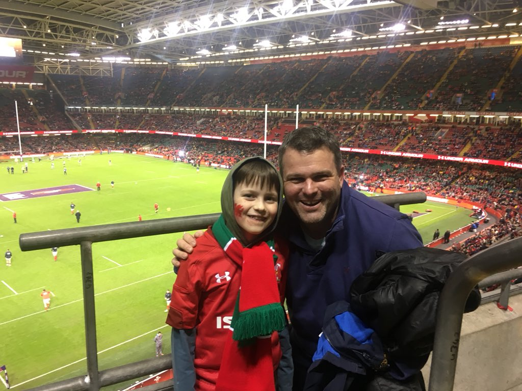 First 6 Nations match....c'mon Wales