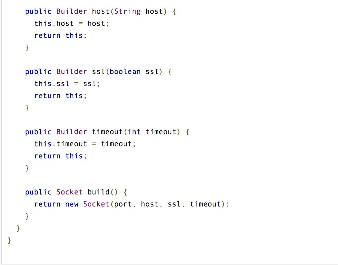 Java On Twitter Builder Pattern Gof Vs Effective Java