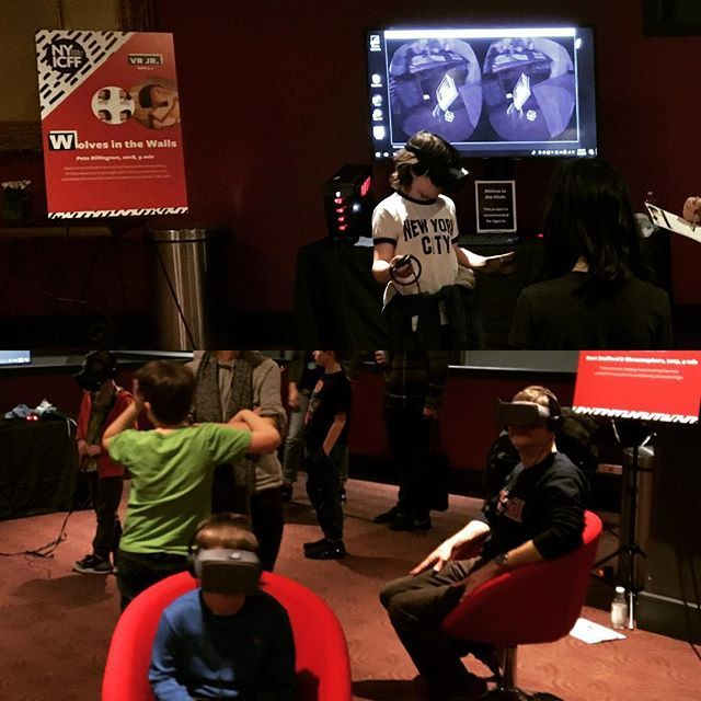 Ever wonder how to create #stories in #virtualreality ? Click on our bio link for advice from the pros at the @nyicff #kidsfilm #animation #junior #filmfestival #sonofjaguar #wolvesinthewalls #fantasticbeasts #nyicff2018 #googlespotlightstories