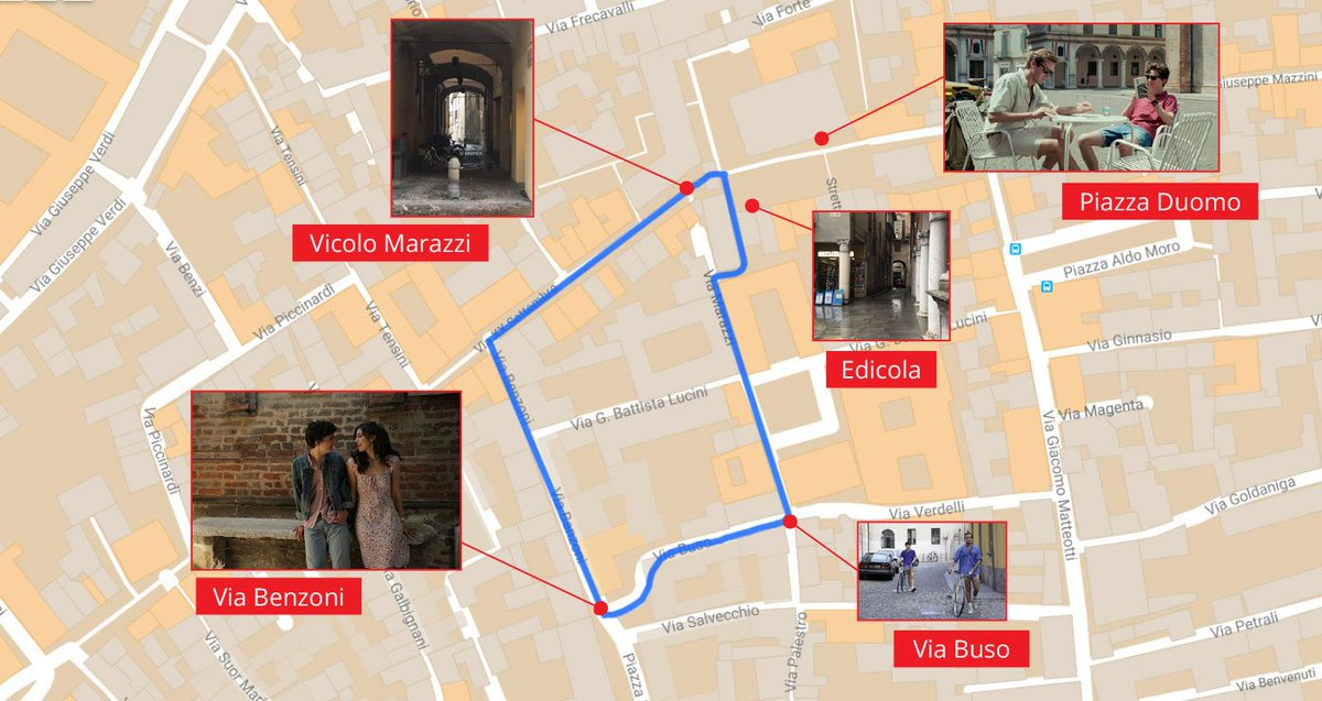 Tom Pe On Twitter Filming Locations Of Cmbyn Map Sites In Crema Lucaguadagnino Esthergarrel Realchalamet Armiehammer