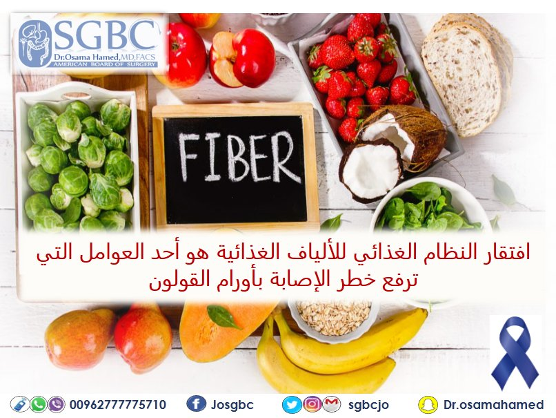 Dr Osama Hamed Sgbc On Twitter Low Fiber Diets Increase The Risk Of Developing Colorectal Cancer March Colon Cancer Colorectal Cancer Colon Cancer Colorectal Cancer Awareness Month Awareness Surgery Bowel Cancer Colorectal Surgery