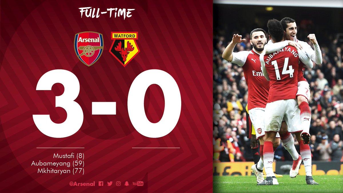 Chấm điểm kết quả Arsenal 3-0 Watford