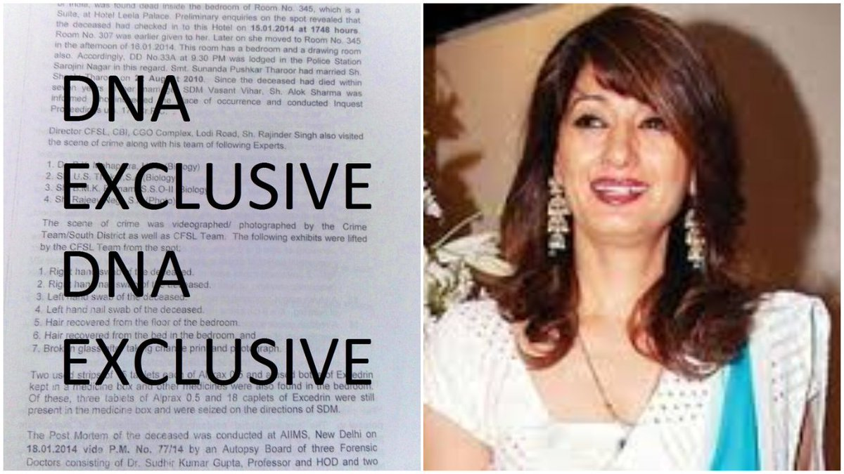 #DNAEXCLUSIVE: #SunandaPushkar was murdered, Delhi Police knew it from day 1, says 'secret report'  by- @invincibleidea https://t.co/dN23rcZ96O