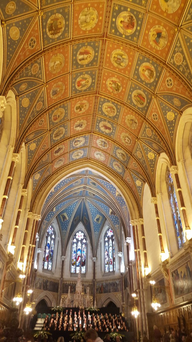What a beautiful ceiling to sing to!  Be...